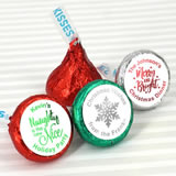 Holiday Metallic Foil Hershey's Kisses Favors