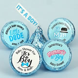 "Baby Boy Personalized ""It's A Boy"" Plume Hershey's Kisses"