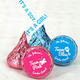 "Team Pink or Blue ""It's A Girl/Boy"" Plume Hershey's Kisses (Set of 200)"