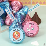 "Hershey Exclusive ""It's A Girl/Boy"" Plume Baby Shower Kisses"
