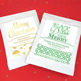 Holiday Metallic Foil Cocoa Favors