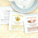 Metallic Foil Tea Favors