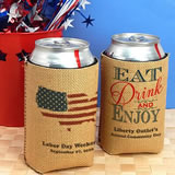 Patriotic Can Cooler