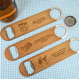 Personalized Wood Paddle Bottle Openers