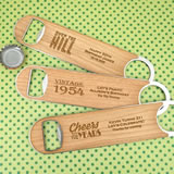 Adult Birthday Wood Paddle Bottle Openers