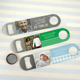 Picture Perfect Photo Vinyl Grip Stainless Steel Paddle Bottle Openers