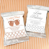 Metallic Foil Coffee Favors (Silver)