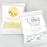 Metallic Foil Coffee Favors (White)