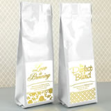 Metallic Foil Gourmet Coffee Favors (Tall Bag)