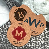 Monogram Car Cork Coasters