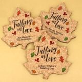 Personalized Leaf Cork Coaster