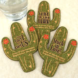 Personalized Cactus Cork Coaster