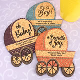 Personalized Baby Stroller Cork Coaster