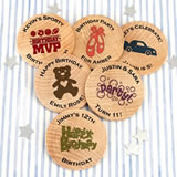 Kids Birthday Wooden Nickels