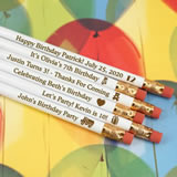 Kids Birthday White Pencils (Set of 12)