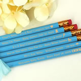 Personalized Baby Blue Pencils (Set of 12)
