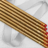 Personalized Gold Pencils (Set of 12)