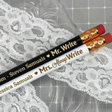 Mr. & Mrs. Write Personalized Pencils (Set of 2)