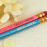 Pink or Blue Personalized Pencils (Set of 2)