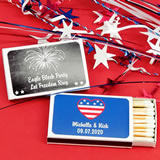 Patriotic Matches - Set of 50 (White Box)
