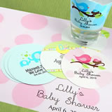 Paper Baby Shower Coasters
