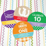 Kids Birthday Paper Coasters