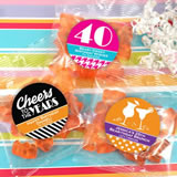 Adult Birthday Gummy Bear Favors - Champagne Flavor