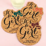 Baby It's A Girl Cork Coaster