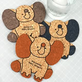 Baby Elephant Cork Coaster