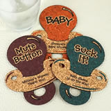 Baby Pacifier Cork Coaster