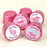 Baby Girl Hershey's Rolo Chocolate Favors