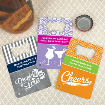 Personalized Stainless Steel Credit Card Bottle Openers