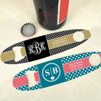 Personalized Surfboard Bottle Opener Wedding Favors