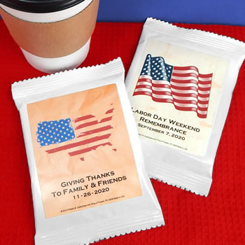 Patriotic Coffee Favors (White)