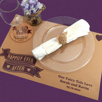 Personalized Kraft Placemats