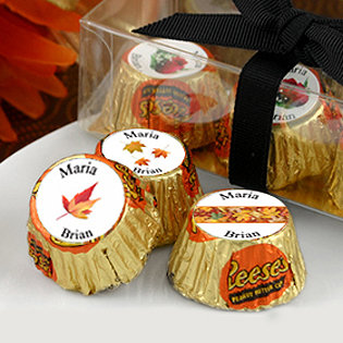 Fall Theme Wedding Hersheys Reese's (4 designs available)