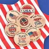 Patriotic Wooden Nickels
