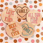 Inspirational Wooden Nickels (Set of 36) - 15 Colors Options