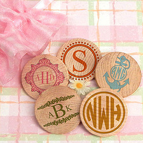 Monogram Wooden Nickels