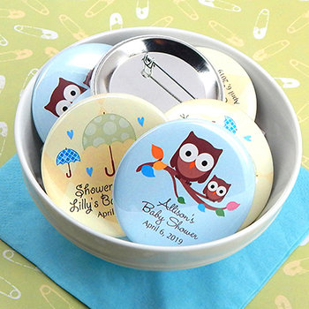 Baby Shower Personalized Buttons (2.25