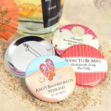 "Personalized Wedding Buttons (2.25"") - Beach Designs"