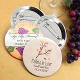 "Personalized Wedding Buttons (2.25"") - Fall Designs"
