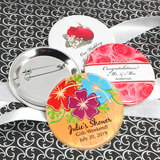 "Personalized Wedding Buttons (2.25"") - Floral Designs"
