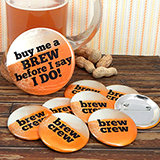 Brew Crew Buttons (Set of 12, plus 1 Free)
