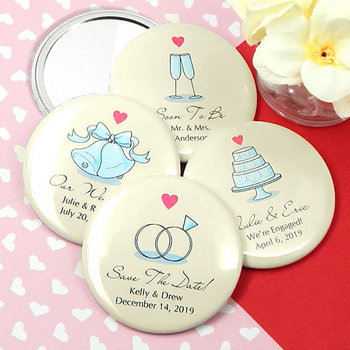 Personalized Wedding Mirrors - Heart Designs