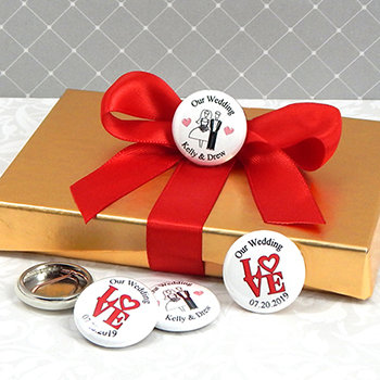 Personalized Wedding Buttons (1