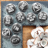 Chalkboard Style Wedding Magnets (Set of 35)