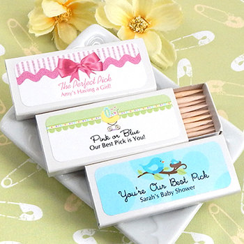 Baby Shower Personalized Toothpicks (Set of 50)