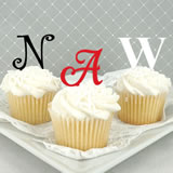 Personalized Single Initial Cupcake Topper - Sample