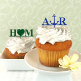 Personalized Initials with Icon Cupcake Topper - Sample